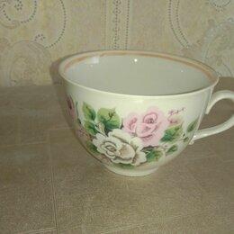 Кружки, блюдца и пары - Чашка дулево розы и блюдце , 0