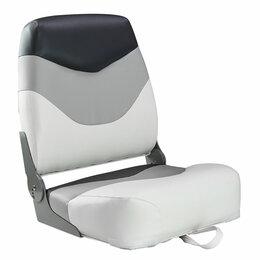 Походная мебель - Кресло мягкое складное Premium, обивка винил, цвет белый/серый/угольный, Mari..., 0
