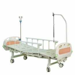 Мебель для учреждений - Кровать медицинская механическая DHC FE-3 с принадлежностями, 0
