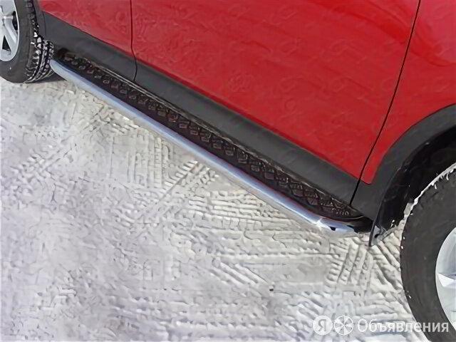 Пороги с площадкой 60,3 мм Toyota RAV4 2013 - 2015 г.в. от ТСС (Арт. TOYRAV13... по цене 20090₽ - Кузовные запчасти , фото 0