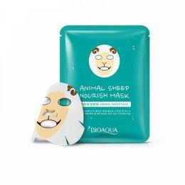 Маски - Питательная эластичная тканевая маска для лица с изображением барашка Bioaqua, 0