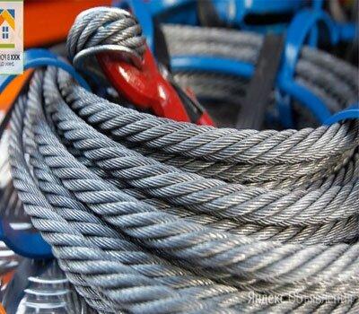 Канат стальной 44 ГОСТ 7667-80 по цене 713₽ - Металлопрокат, фото 0