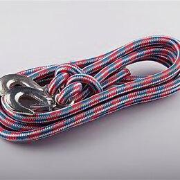 Веревки и шнуры - Трос веревочный усиленный 12тн 5м 2 крюка, 0
