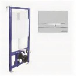 Комплектующие - Система инсталляции BERGES для скрытого монтажа унитаза NOVUM кнопка F1, белая, 0