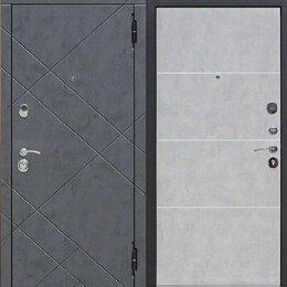 Входные двери - Дверь входная стальная Бруклин бетон МДФ в наличии, 0
