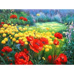 Горшки, подставки для цветов - Цветочный островок в саду Артикул : GX 21253, 0