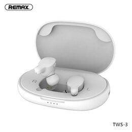 Наушники и Bluetooth-гарнитуры - Беспроводные наушники REMAX True WIreless Atereo Headset TWS-3 (Белые), 0