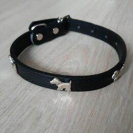 Ошейники  - Черный кожаный ошейник для собаки, 0