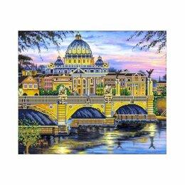 Рукоделие, поделки и сопутствующие товары - Алмазная мозаика Рыжий кот «Красивый Европейский город» 50*60см, 0