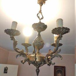 Люстры и потолочные светильники - люстры бронзовые и бра  сталинских времен , 0