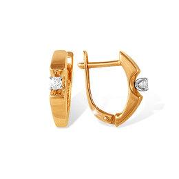 Серьги - Серьги из золота с бриллиантом EFREMOV, 0