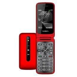 Проводные телефоны - Телефон teXet TM-408 (красный), 0