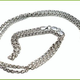 Цепи - БИСМАРК цепь - цепочка на шею 61,5*0,35см серебро 925* 13,3гр. карабин, 0
