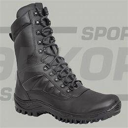Ботинки - Ботинки Ларгос Флагман натур кожа чёрн шнуровка высота 22 см (х6), 0