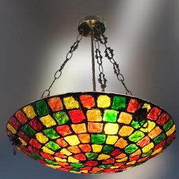 Люстры и потолочные светильники - Люстра с цветным стеклом D50см, 0