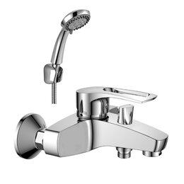 Краны для воды - Rossinka Смеситель для ванны с монолитным изливом, 0
