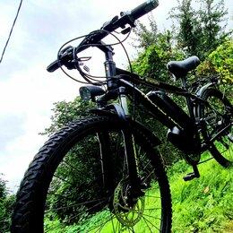 Мото- и электротранспорт - Гибридный Электровелосипед горный., 0