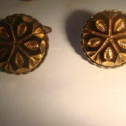 Запонки и зажимы - Запонки бронза арт деко 70 х годов, 0