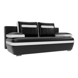 Диваны и кушетки - Прямой диван «Каир», механизм еврокнижка, экокожа, цвет чёрный / белый, 0