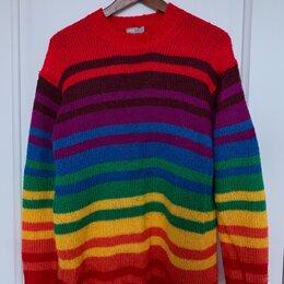 Свитеры и кардиганы - Тёплый разноцветный свитер, 0