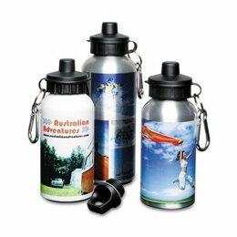 Туристическая посуда - Фляжка алюминиевая с крышкой для питья СЕРЕБРО, 600мл, 0