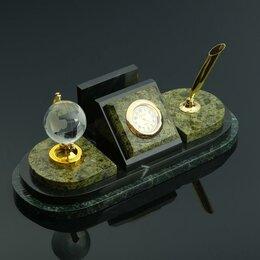 Визитницы и кредитницы - Визитница «Змеевик»: подставка для ручки, часы, глобус, 0