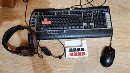 Комплекты клавиатур и мышей - Игровая клава, мышь, наушники, 0