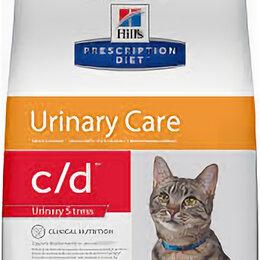 Кремы и лосьоны - Хиллс д/кошек Диета C/D(Проф. мочекаменной болезни при стрессе) 1,5кг , 0