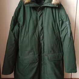 Куртки - Куртка зимняя офисная (Аляска) зеленого цвета, 0