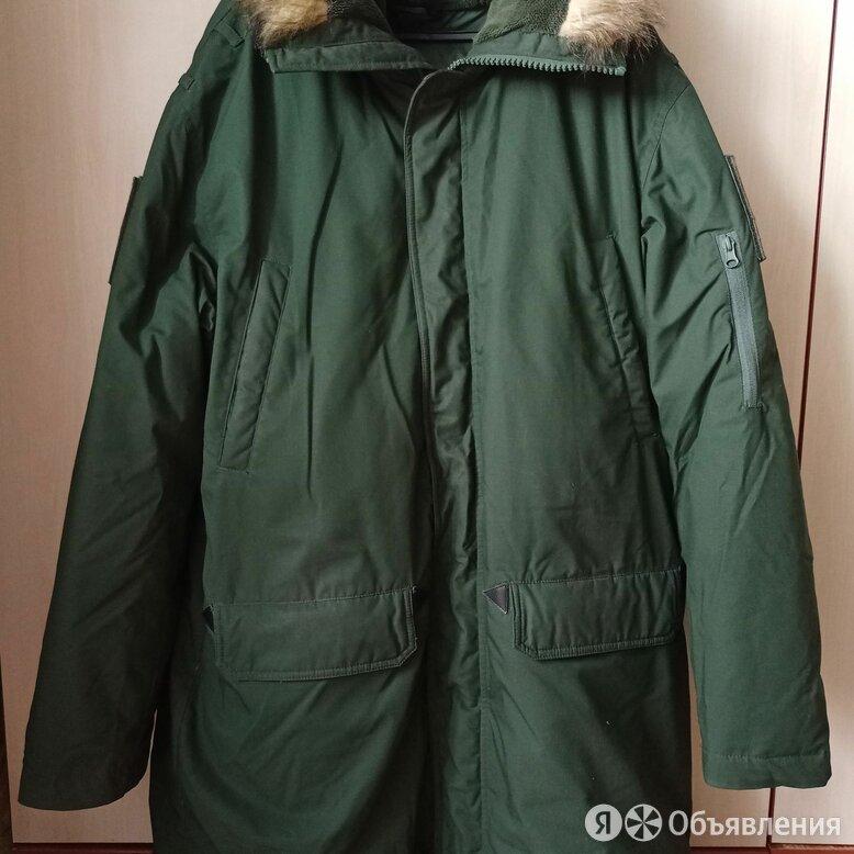 Куртка зимняя офисная (Аляска) зеленого цвета по цене 3500₽ - Куртки, фото 0