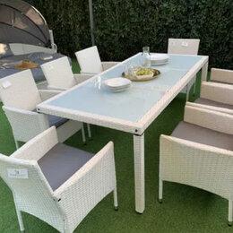 Комплекты садовой мебели - Обеденный комплект из искусств ротанга на 8 персон, 0
