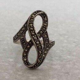 Кольца и перстни - Кольцо с марказитом из серебра, 0