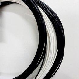Прочие принадлежности - Моток PLA пластика для 3д ручки 10 м, черный (белый), 0