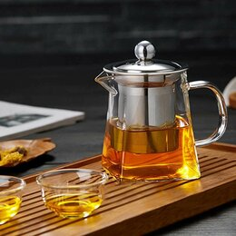 Заварочные чайники - Заварочный чайник стеклянный большой (750 мл)., 0