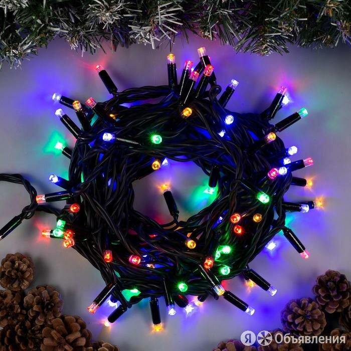 Гирлянда 'Нить' 10 м , IP65, УМС, тёмная нить, 100 LED, свечение мульти, 220 В по цене 2193₽ - Новогодний декор и аксессуары, фото 0