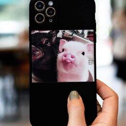 Чехлы - Чехлы на айфон 11 со свиньей минипинг, 0