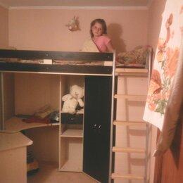 Кровати - Кровать чердак для детей от 8 лет глубина 80, 0