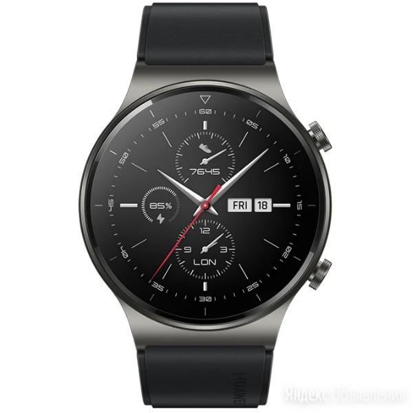 Умные часы Huawei Watch GT 2 Pro (фторэластомер, черная ночь, VID-B19) по цене 15380₽ - Умные часы и браслеты, фото 0