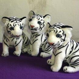Мягкие игрушки - Большой белый тигр мягкая игрушка, 0