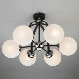 Люстры и потолочные светильники - Люстра на штанге Eurosvet Globe 70082/6 хром/черный, 0