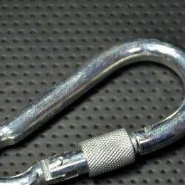 Карабины - Карабин пожарный с фиксатором 9х90 мм, 0