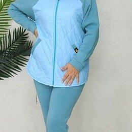 Спортивные костюмы - Женский тёплый спорт костюм р-ры 46-54, 0
