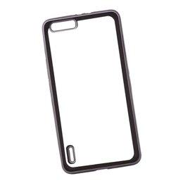 Чехлы - Силиконовый чехол «LP» для Huawei Honor 6 Plus TPU (прозрачный с черной хром ..., 0