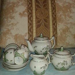Сервизы и наборы - Сервиз чайный дфз вербилки зеленый барбарис, 0