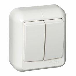 Электроустановочные изделия - Выключатель 2кл о/у ПРИМА с монт пластиной белый Schneider Electric, 0