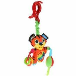 Погремушки и прорезыватели - 307002   Текстильная игрушка подвеска с погремушками тигр на блистере Умка в кор, 0