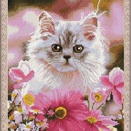 Картины, постеры, гобелены, панно - Котенок в цветах Артикул : CK 862, 0