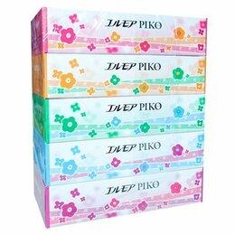 """Бумажные салфетки, носовые платки - Бумажные двухслойные салфетки """"Ellemoi. Piko"""", 160 штук (спайка 5 пачек), 0"""