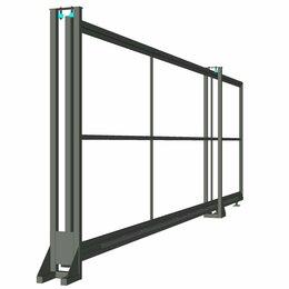Заборы, ворота и элементы - Ворота откатные под автоматику ОПТИМА Ш5000мм В2000мм цинко-полимерное покрытие, 0