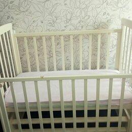 Кроватки - Детская кровать с продольным маятником и матрасом, 0